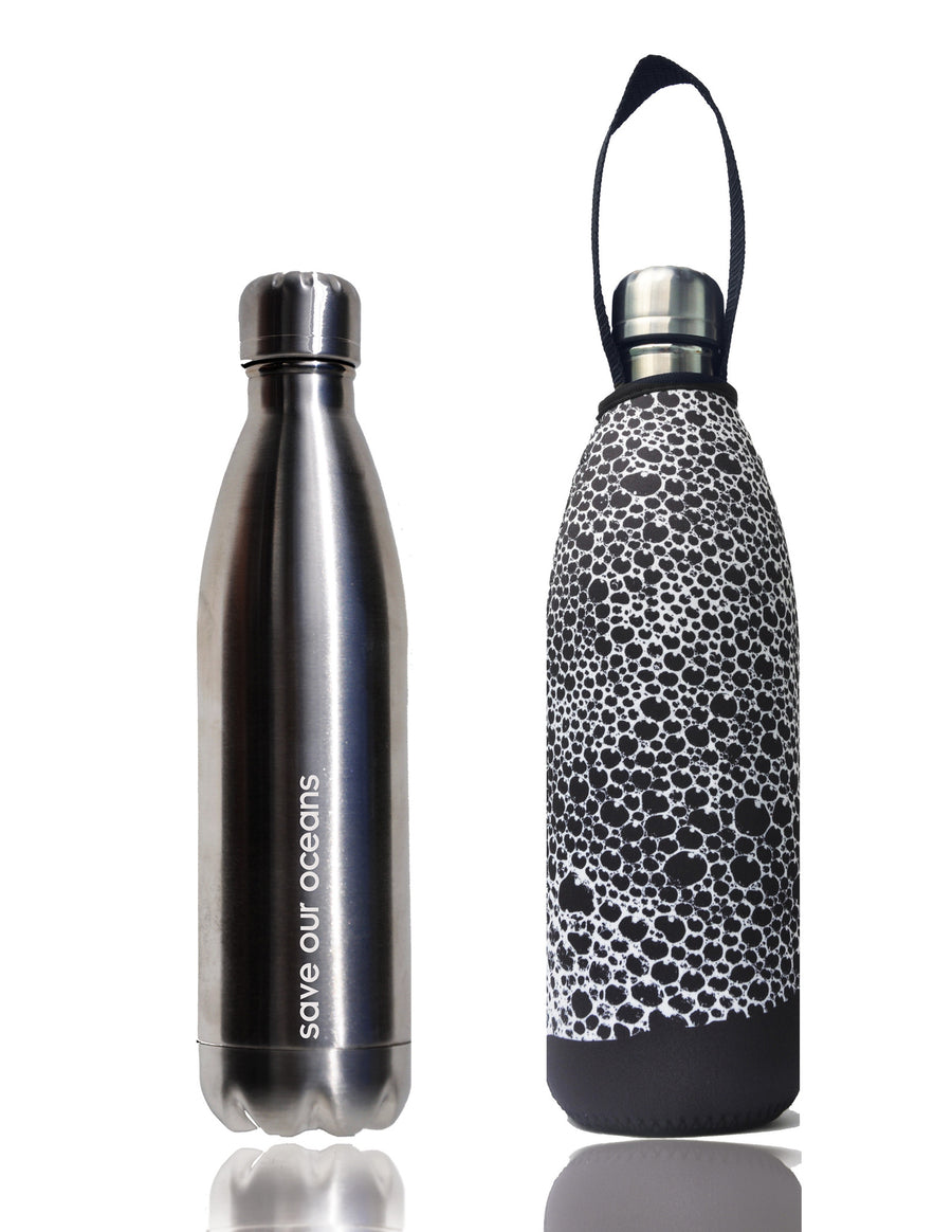 BBBYO FB + CARRY COVER COMBO ('BUBBLE') STAINLESS STEEL INSULATED BOTTLE 34 oz