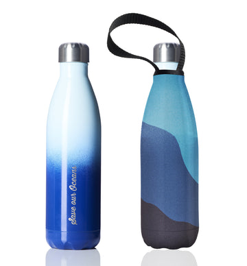 BBBYO FB + CARRY COVER COMBO ('BIGBLU') STAINLESS STEEL INSULATED BOTTLE 25 oz