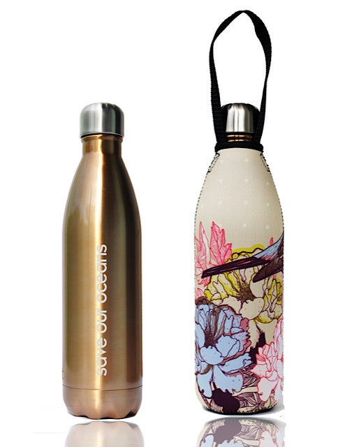 BBBYO FB + CARRY COVER  ('BIRD') STAINLESS STEEL INSULATED BOTTLE 17 oz