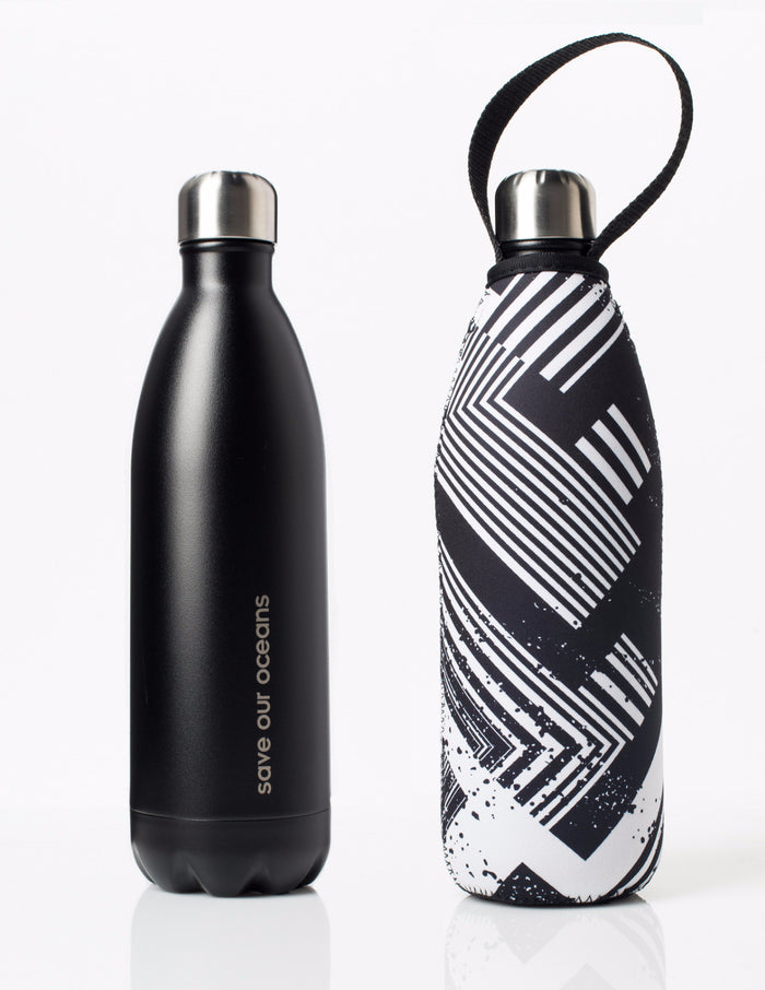 BBBYO FB + CARRY COVER COMBO ('CIRCUIT') STAINLESS STEEL INSULATED BOTTLE 34 oz