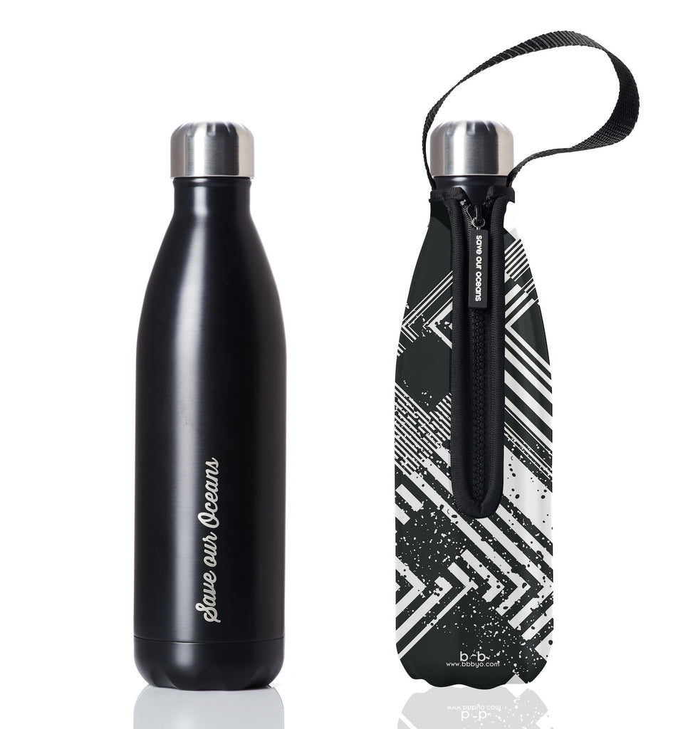 BBBYO FB + CARRY COVER COMBO ('CIRCUIT') STAINLESS STEEL INSULATED BOTTLE 25 oz