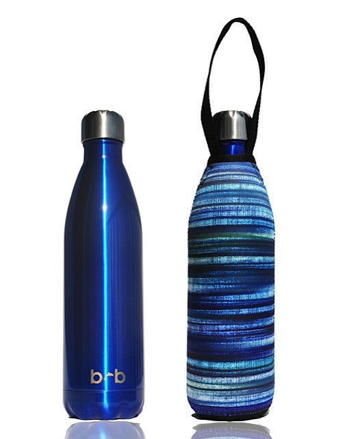 BBBYO FB + CARRY COVER COMBO ('ELECTRIC') STAINLESS STEEL INSULATED BOTTLE 34 oz
