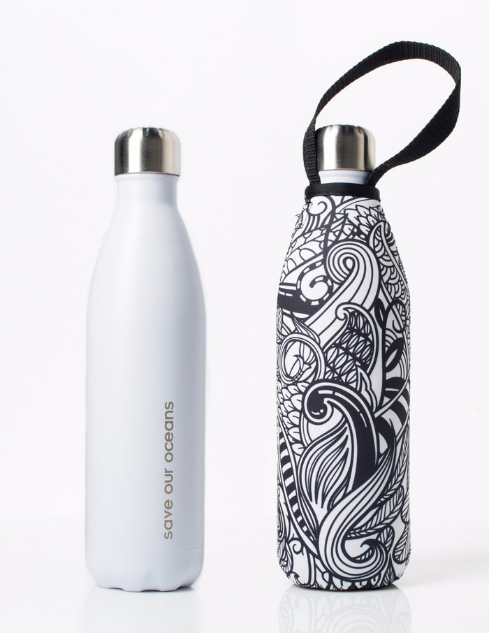 BBBYO FB + CARRY COVER COMBO ('KORU') STAINLESS STEEL INSULATED BOTTLE 25 oz