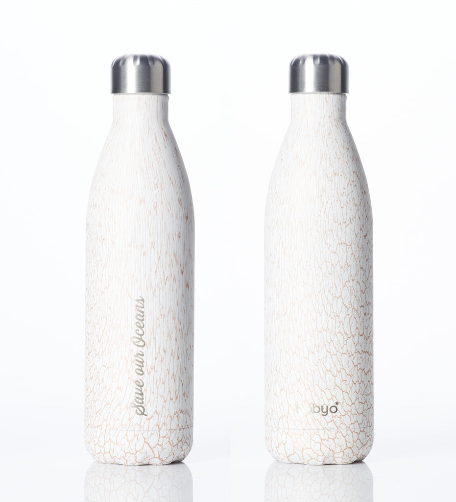 BBBYO FB + CARRY COVER COMBO ('LEAF') STAINLESS STEEL INSULATED BOTTLE 25 oz