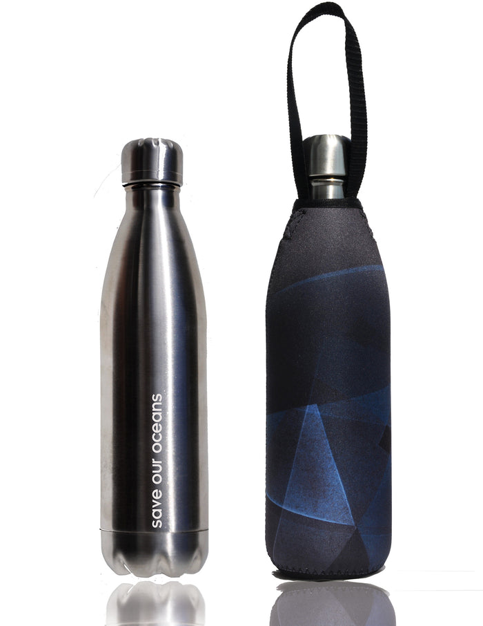 BBBYO FB + CARRY COVER COMBO ('PRISM') STAINLESS STEEL INSULATED BOTTLE 25 oz