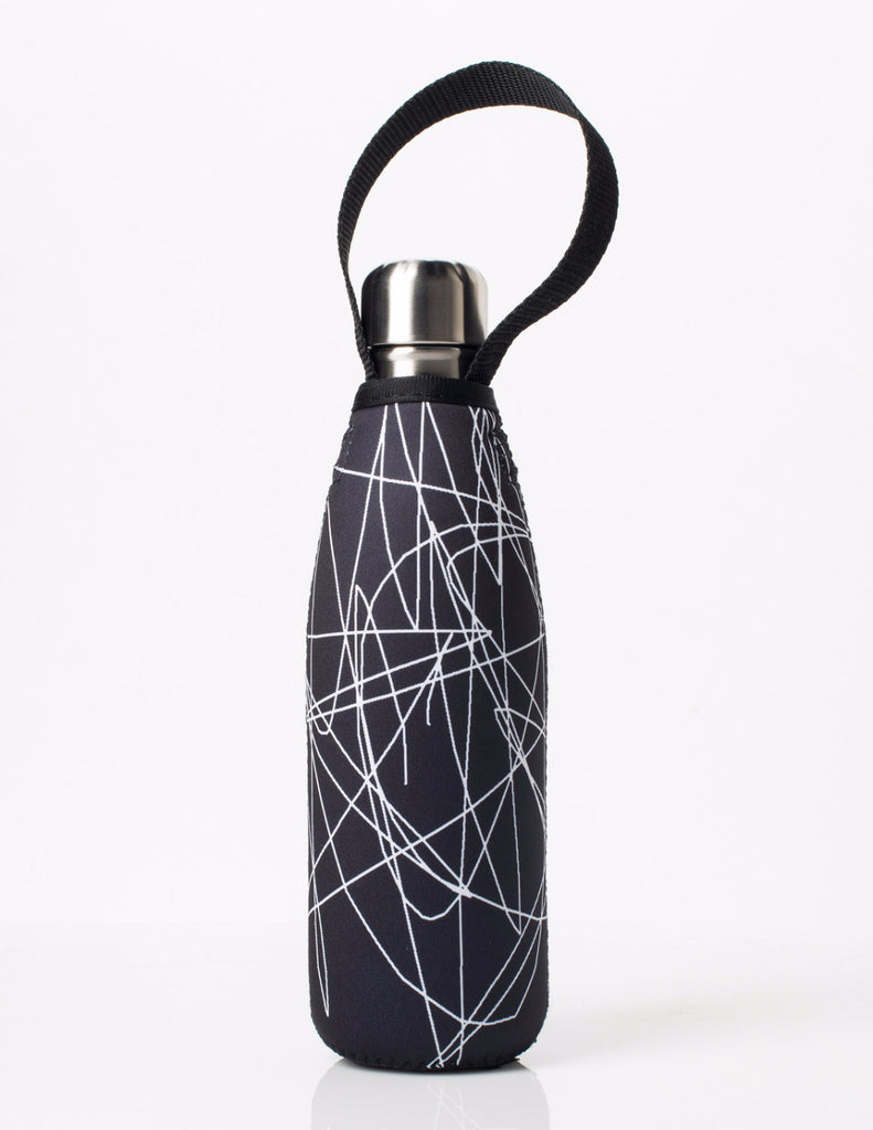 BBBYO FB + CARRY COVER  ('SKETCH') STAINLESS STEEL INSULATED BOTTLE 17 oz