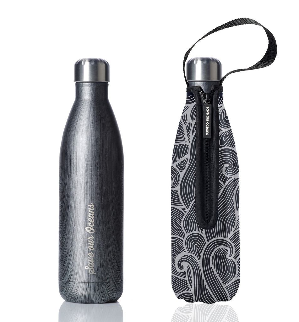 BBBYO FB + CARRY COVER COMBO ('SWIRL') STAINLESS STEEL INSULATED BOTTLE 25 oz