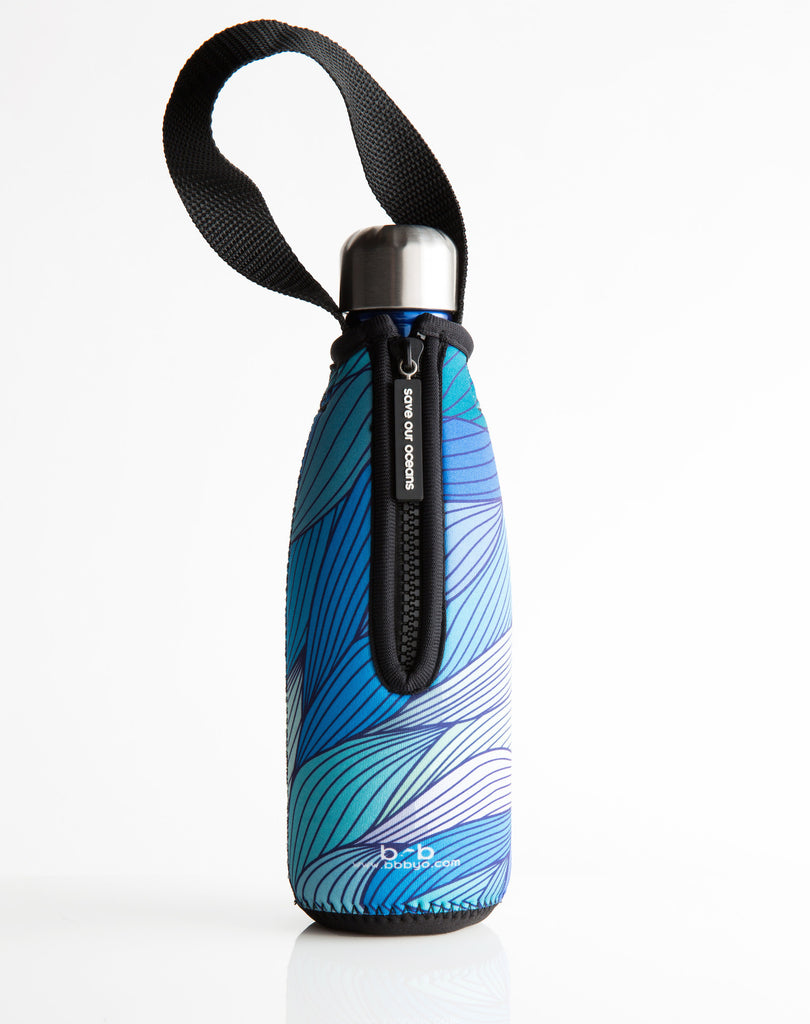 BBBYO FB + CARRY COVER  ('TIDE') STAINLESS STEEL INSULATED BOTTLE 12 oz/350ml