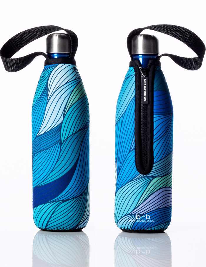 BBBYO FB + CARRY COVER COMBO ('TIDE') STAINLESS STEEL INSULATED BOTTLE 25 oz
