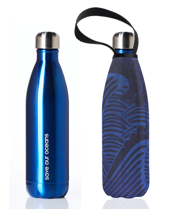 BBBYO FB + CARRY COVER COMBO ('TSUNAMI I') STAINLESS STEEL INSULATED BOTTLE 25 oz