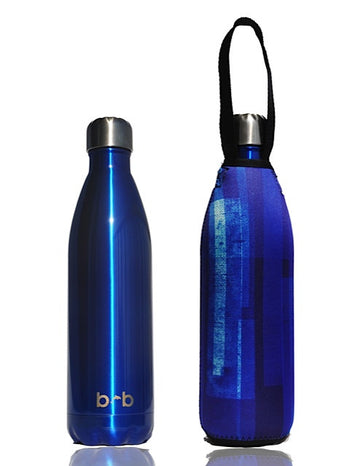 BBBYO FB + CARRY COVER  ('WINDOW') STAINLESS STEEL INSULATED BOTTLE 17 oz