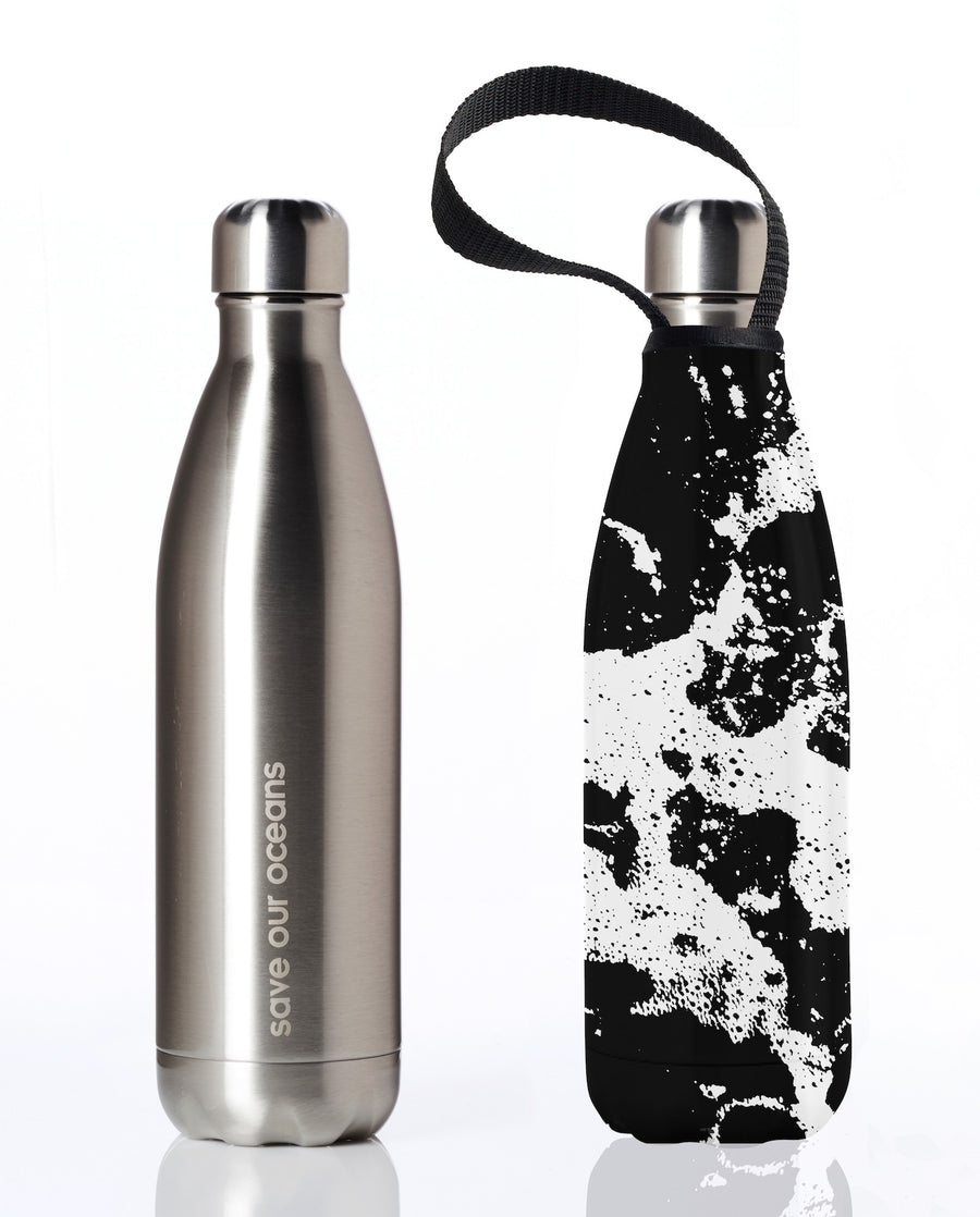 BBBYO FB + CARRY COVER COMBO ('WHITE WATER') STAINLESS STEEL INSULATED BOTTLE 25 oz