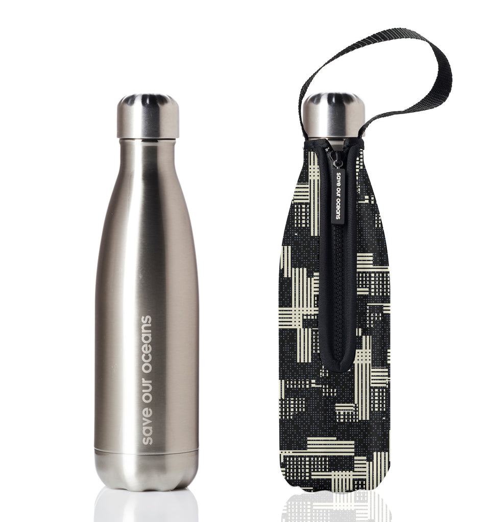 BBBYO FB + CARRY COVER  ('ZIP') STAINLESS STEEL INSULATED BOTTLE 17 oz