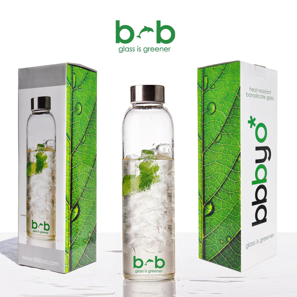 "GLASS IS GREENER BOTTLE + CARRY COVER ""Bird"" 19 oz"