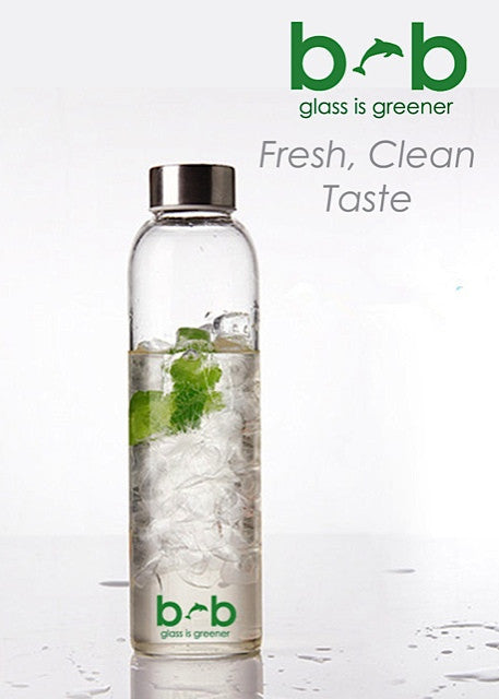 "GLASS IS GREENER 25 oz BOTTLE + CARRY COVER ""SEALEAF"""