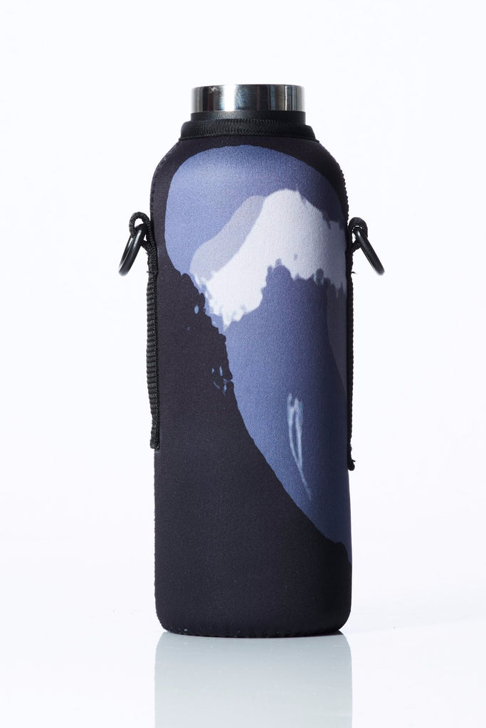 "TRVLR by BBBYO - for HYDROFLASK® - Cooler Carry Cover ""BLACK WAVE"" - 21 oz"