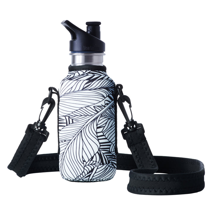 "TRVLR by BBBYO - for KLEAN KANTEEN® ""Classic"" - Cooler Carry Cover ""WHITE LEAF"" - 18 oz"