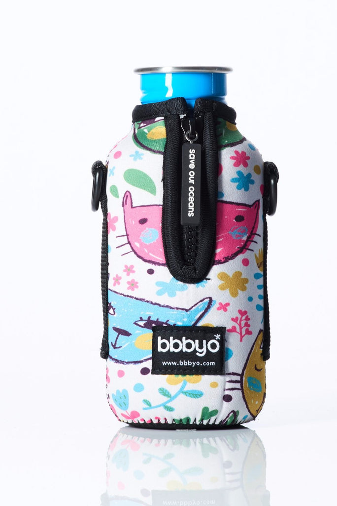 "TRVLR by BBBYO - for KLEAN KANTEEN® ""Classic"" - Cooler Carry Cover ""CATS"" - 18 oz"