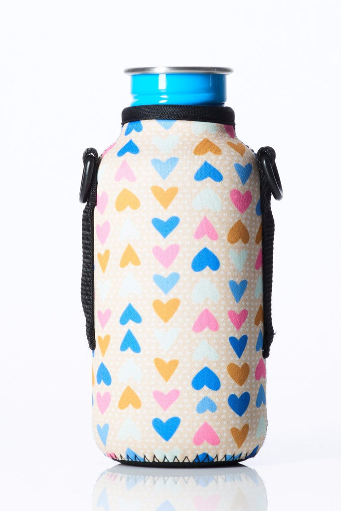 "TRVLR by BBBYO - for KLEAN KANTEEN® ""Classic"" - Cooler Carry Cover ""HEARTS"" - 18 oz"
