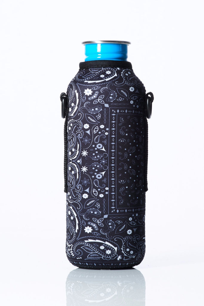 "TRVLR by BBBYO - for KLEAN KANTEEN® ""Classic"" - Cooler Carry Cover ""BLACK BANDANA"" - 27 oz"