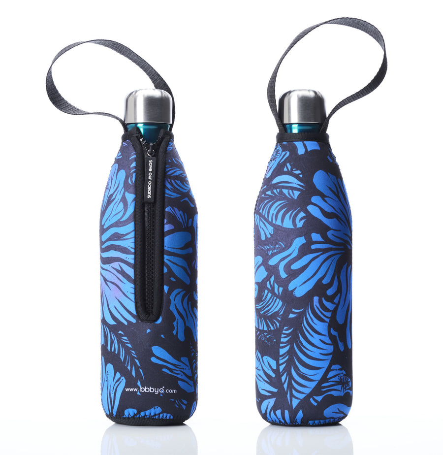 BBBYO FB + CARRY COVER COMBO ('Efflorescence II') STAINLESS STEEL INSULATED BOTTLE 25 oz