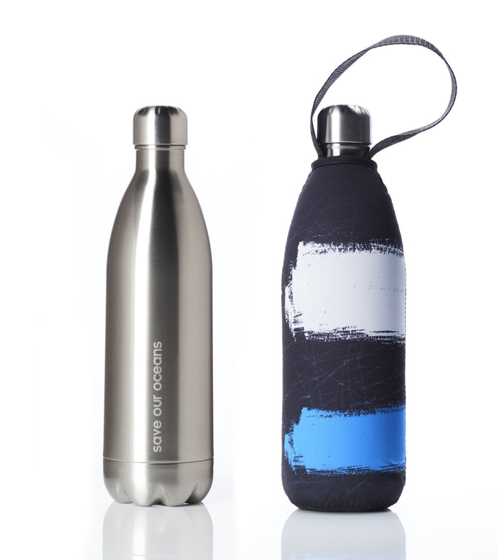 BBBYO FB + CARRY COVER COMBO ('PAINT') STAINLESS STEEL INSULATED BOTTLE 34 oz