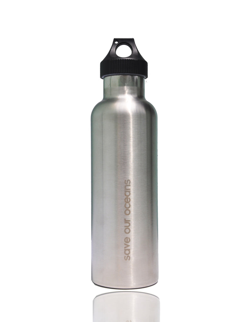 BBBYO Traveller Stainless Steel Water Bottle with Carabiner + Carry Cover 25oz (Tropic)
