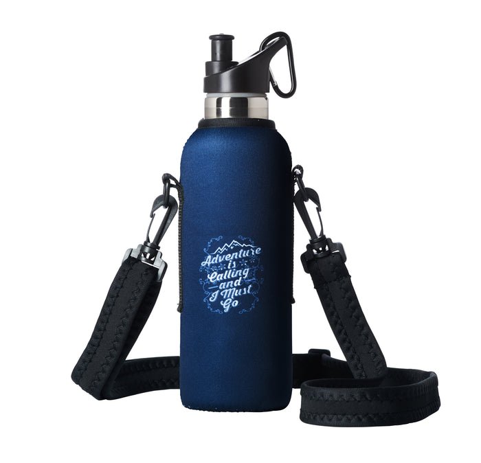 "TRVLR by BBBYO - for HYDROFLASK® - Cooler Carry Cover ""ADVENTURE"" - 21 oz"