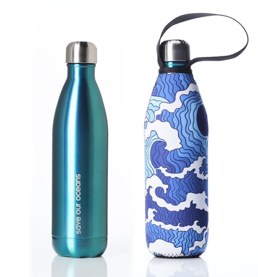BBBYO FB + CARRY COVER COMBO ('TSUNAMI II') STAINLESS STEEL INSULATED BOTTLE 25 oz