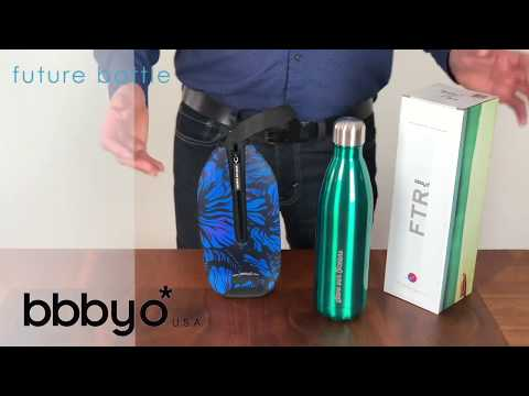BBBYO FB + CARRY COVER COMBO ('WHITE FEATHER') STAINLESS STEEL INSULATED BOTTLE 25 oz