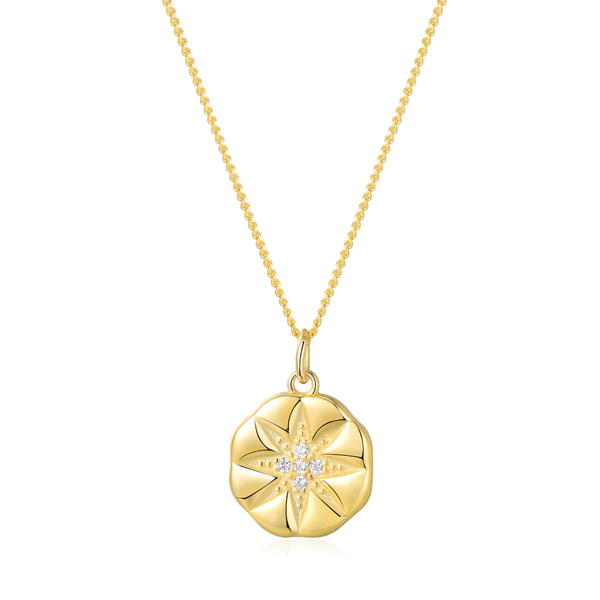 Inspirational Gold Vermeil Dainty Coin Minimalist Necklace - ISAACSONG.DESIGN