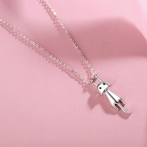 Luxury Dangling & Swing Cat Pendant Necklace | ISAACSONG.DESIGN