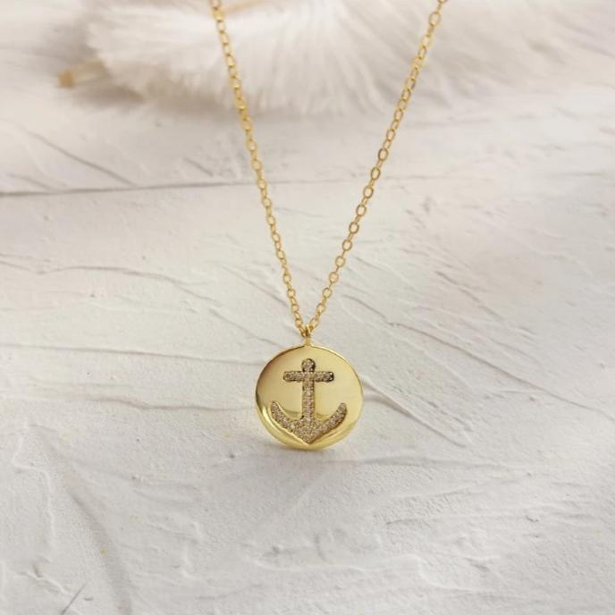 Inspirational Gold Vermeil Dainty Coin Minimalist Necklace | ISAACSONG.DESIGN