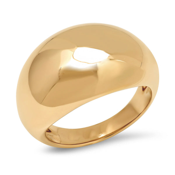 Stackable Knuckle Midi Gold Dome Band Ring for women - ISAACSONG.DESIGN