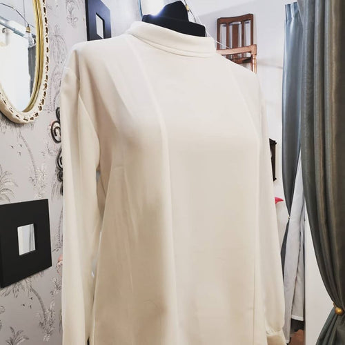 White Blouse with turn down collar