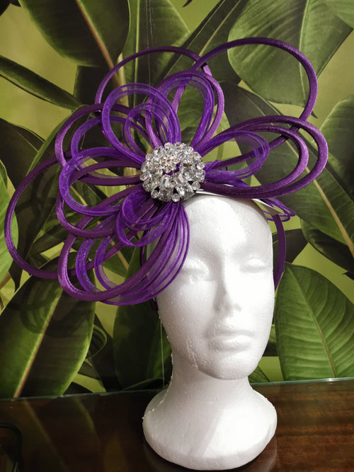 "Purple ""Lady"" Fascinator"