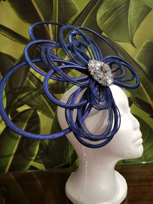 "Navy ""Lady"" Fascinator"