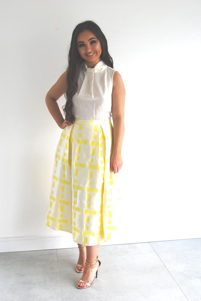 Penelope Yellow & Cream Dress