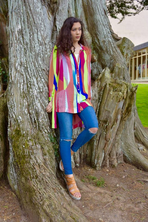 Multi Coloured Waterolour blouse