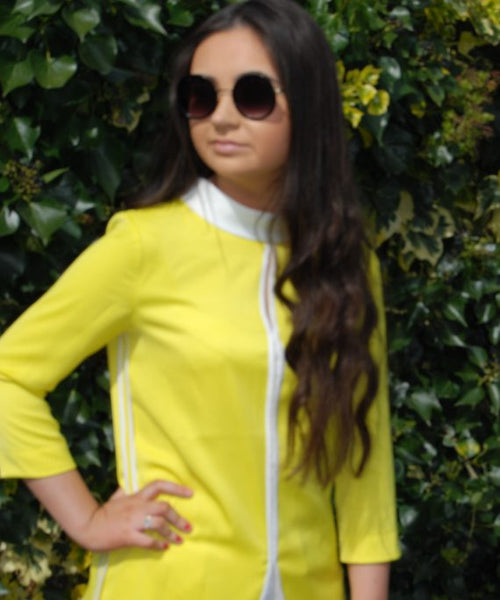 Yellow 60's style Top