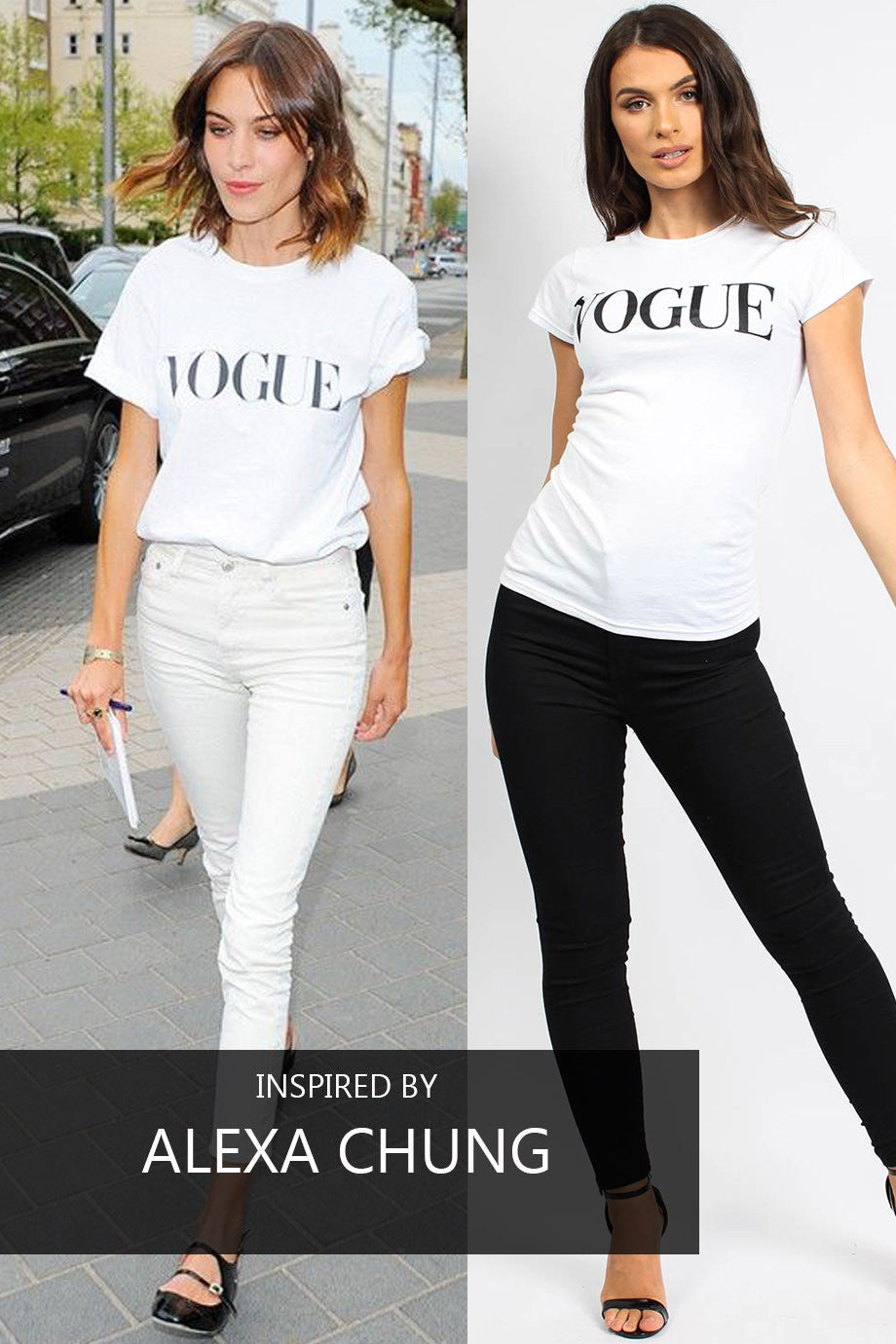 Vogue Slogan T-shirt White