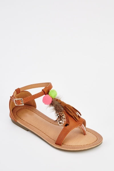 Carmel Faux Leather Sandals