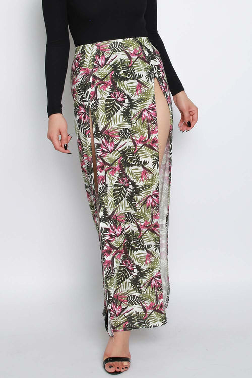 Tropical Maxi SKirt