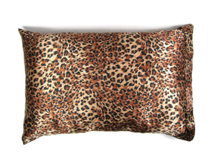 Luxe Satin Zippered Pillowcase - Leopard