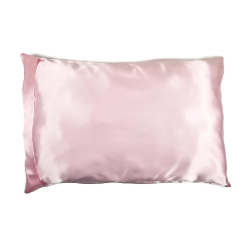 Luxe Satin Zippered Pillowcase - Whisper Pink