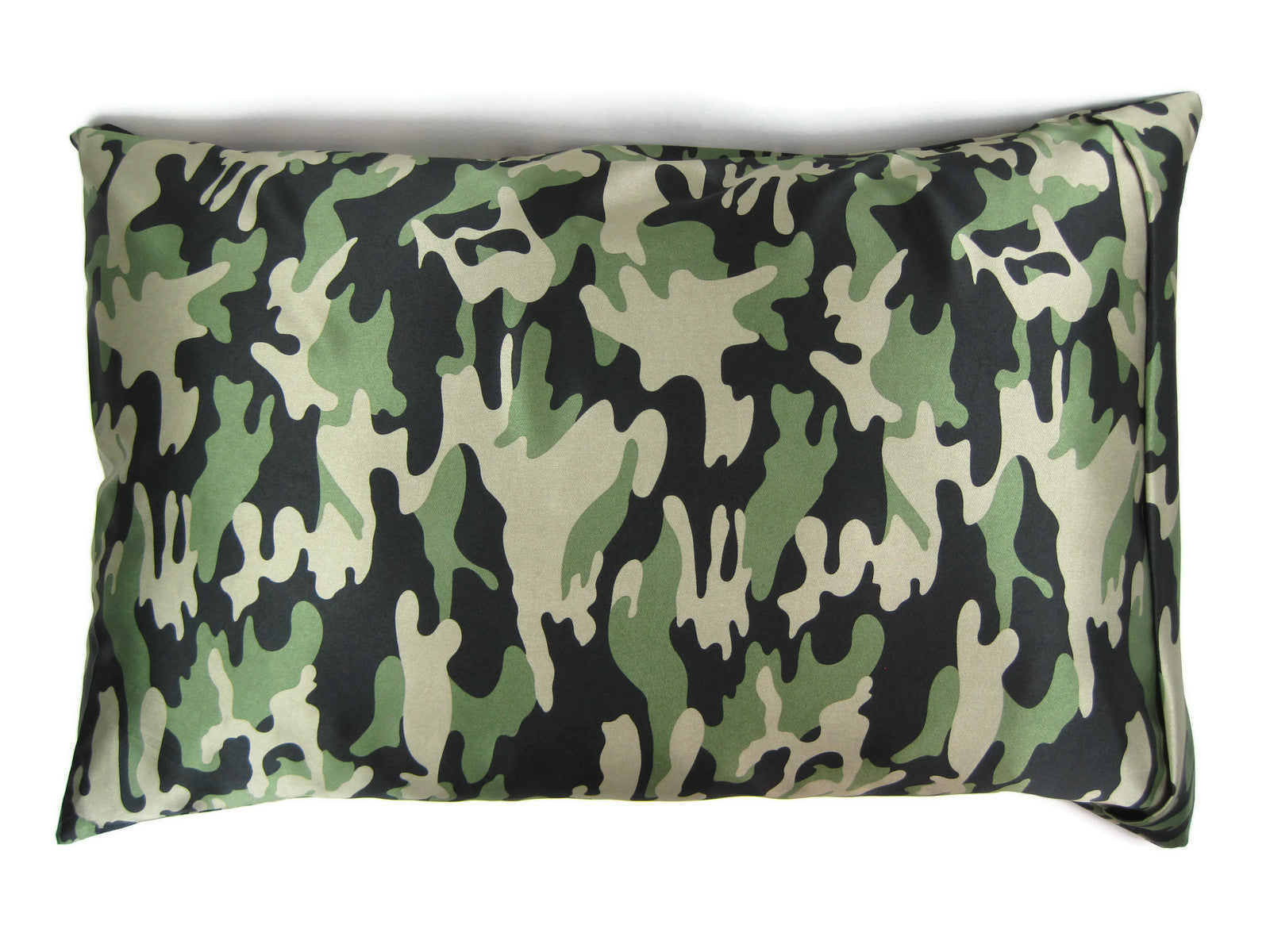 Luxe Satin Zippered Pillowcase - Camouflage