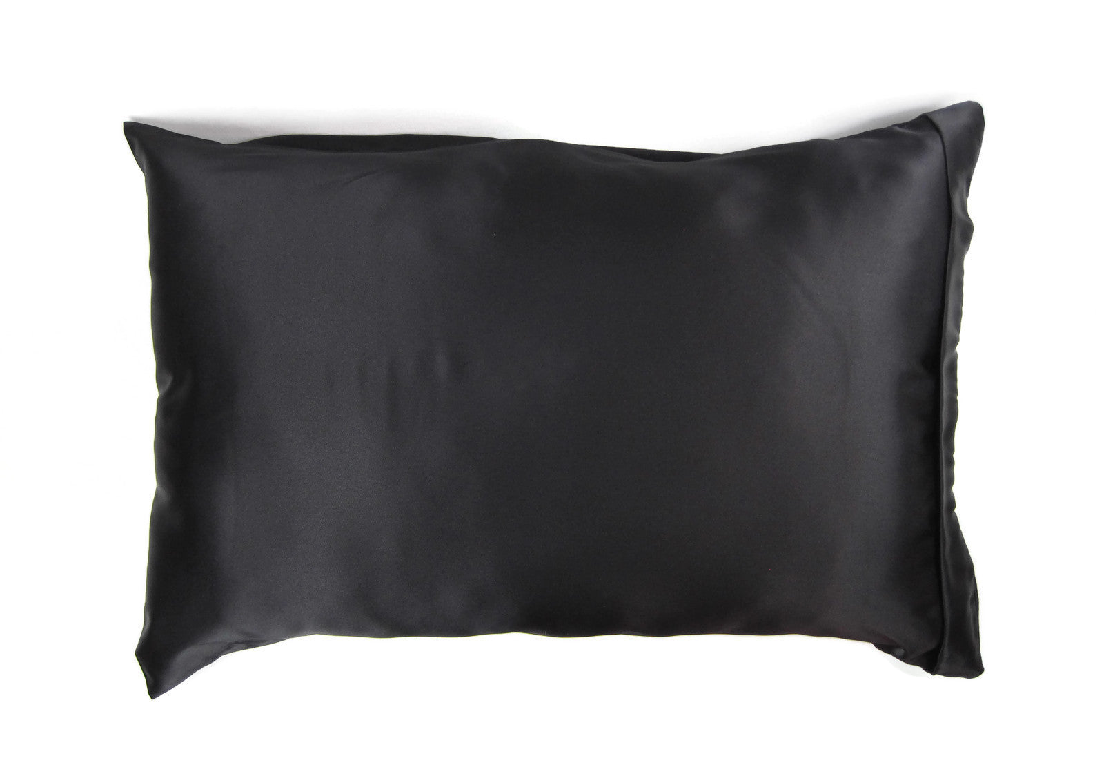 Luxe Satin Zippered Pillowcase - Ebony Nites (Black)