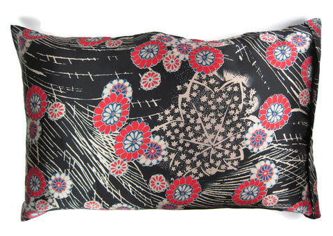 Luxe Satin Zippered Pillowcase - Japanese Garden