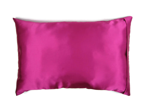 Luxe Satin Zippered Pillowcase - Magnificent Magenta (Fuchsia)