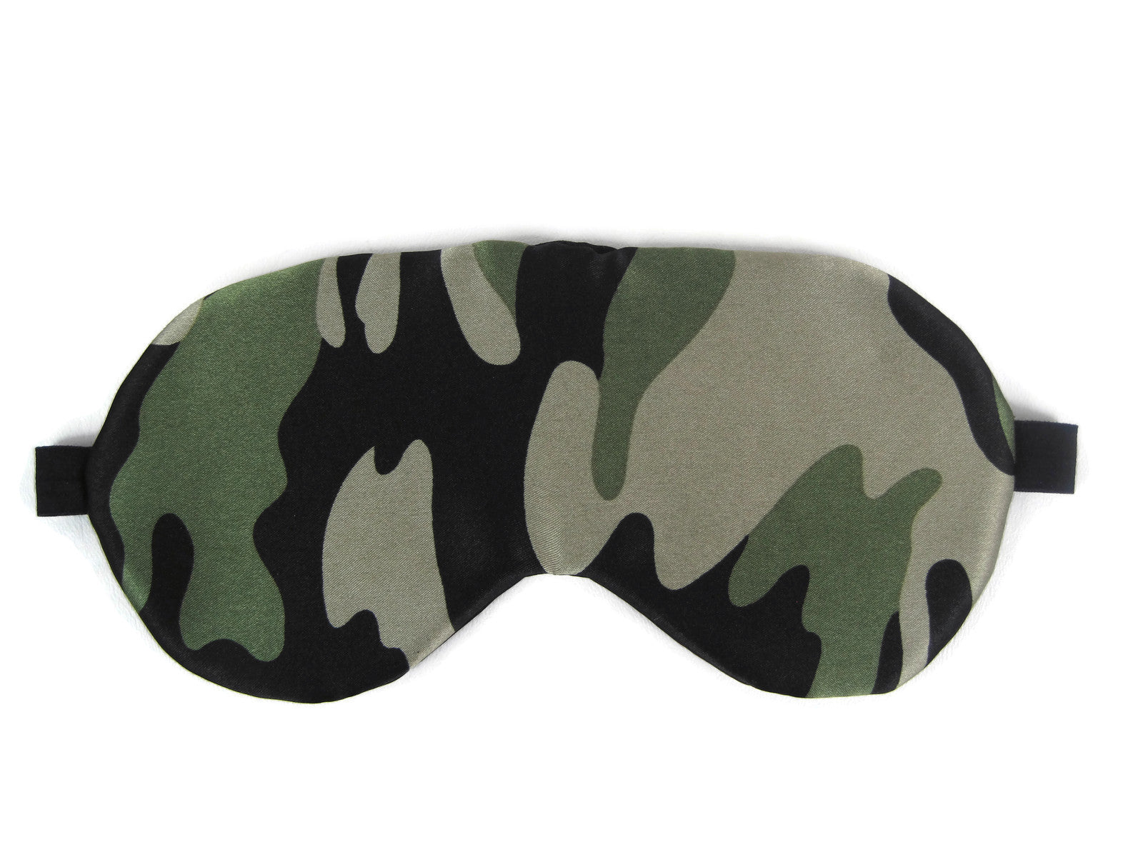 Satin Reversible Sleep Mask - Camouflage/Black